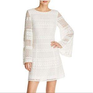 Gorgeous Women's White Grin Eyelet Lace Dress